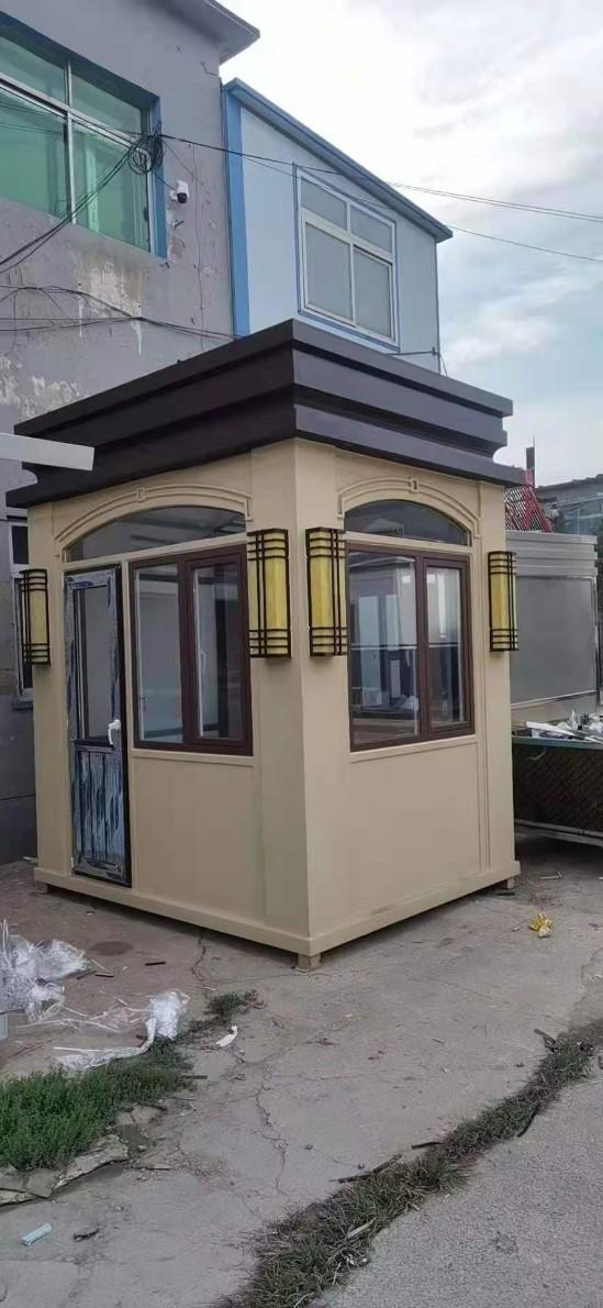 盘锦仿铜形象岗亭,兴隆台物业小区售楼部玻璃岗亭