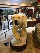 仿生北极熊标本仿真北极熊模型;