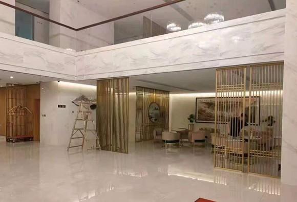 定做酒店别墅客厅不锈钢隔断花格厂家